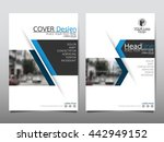 blue business technology annual ... | Shutterstock .eps vector #442949152