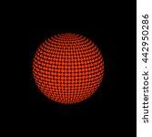abstract orange halftone. black ...   Shutterstock .eps vector #442950286