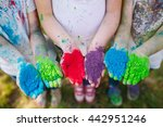 hands   palms of young people... | Shutterstock . vector #442951246