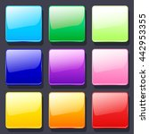 set of colorful vector glass...