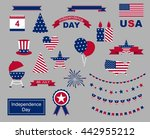 usa celebration flat national... | Shutterstock .eps vector #442955212