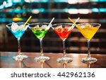 multicolored cocktails at the... | Shutterstock . vector #442962136