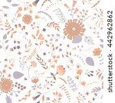 vector flower pattern. colorful ... | Shutterstock .eps vector #442962862