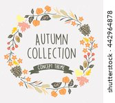 autumn wreath flower | Shutterstock .eps vector #442964878