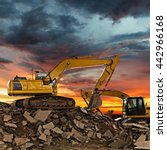 excavator on construction site...