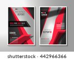brochure template  flyer design ... | Shutterstock .eps vector #442966366