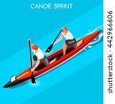 canoe sprint doubles sportsman... | Shutterstock .eps vector #442966606