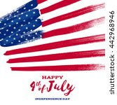 4th july independence day... | Shutterstock .eps vector #442968946