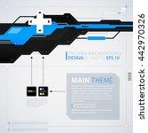 modern text background template....   Shutterstock .eps vector #442970326