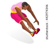 athletics triple jumper male...   Shutterstock .eps vector #442974346