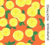 lemon illustration. textiles ... | Shutterstock . vector #442979932