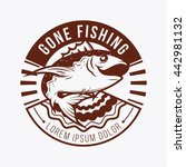 fishing logo or badge template. ... | Shutterstock .eps vector #442981132