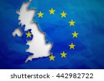 Piece In Form Of Uk Borders...