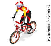 bmx cyclist bicyclist athletes... | Shutterstock .eps vector #442985542