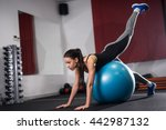 Attractive Girl Training On A...