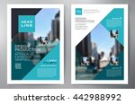 business brochure flyer design... | Shutterstock .eps vector #442988992