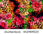 texture fabric graphic line and ... | Shutterstock . vector #442989025