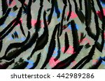 texture fabric of tiger for...   Shutterstock . vector #442989286