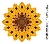 vector ethnic circular pattern... | Shutterstock .eps vector #442989562