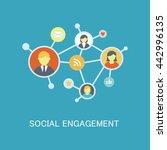 social engagement vector icon | Shutterstock .eps vector #442996135