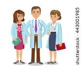 medical team. three doctors...   Shutterstock . vector #443001985