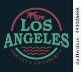 t shirt graphics  typography.... | Shutterstock .eps vector #443006686