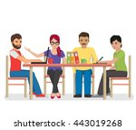 flat illustration of a group of ... | Shutterstock .eps vector #443019268