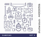 set line icons camping  tourism.... | Shutterstock .eps vector #443030506