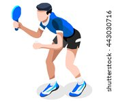table tennis sportsman games... | Shutterstock .eps vector #443030716