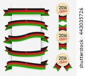 world flag ribbon   vector... | Shutterstock .eps vector #443035726