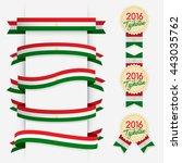 world flag ribbon   vector... | Shutterstock .eps vector #443035762