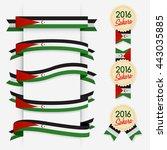world flag ribbon   vector... | Shutterstock .eps vector #443035885