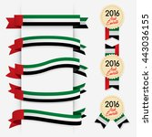 world flag ribbon   vector... | Shutterstock .eps vector #443036155