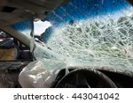 broken car windshield | Shutterstock . vector #443041042
