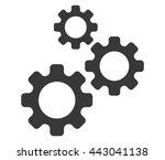 settings icon. gear symbol....   Shutterstock .eps vector #443041138
