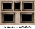 Five Antique Frames With Black...
