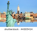 the new york city midtown... | Shutterstock . vector #44305414