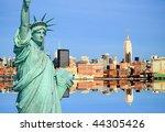 the new york city midtown...   Shutterstock . vector #44305426