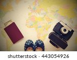 beautiful concept for summer...   Shutterstock . vector #443054926