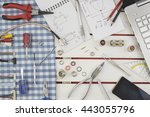 electrical and electronic... | Shutterstock . vector #443055796