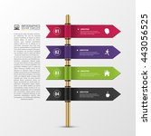 banner steps business template. ...   Shutterstock .eps vector #443056525