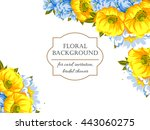 abstract flower background with ... | Shutterstock .eps vector #443060275
