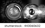 digital data background blue... | Shutterstock . vector #443060632