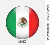 mexico flag in circle shape....