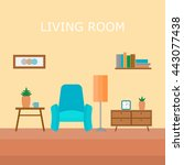 interior of a room with an...   Shutterstock .eps vector #443077438