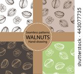 vector set of seamless patterns ... | Shutterstock .eps vector #443077735