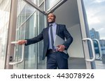 low angle view of handsome... | Shutterstock . vector #443078926
