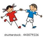 dancing children | Shutterstock .eps vector #443079226
