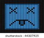 computer virus depicted by blue ... | Shutterstock .eps vector #44307925