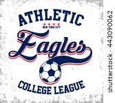 athletic eagles college league... | Shutterstock .eps vector #443090062